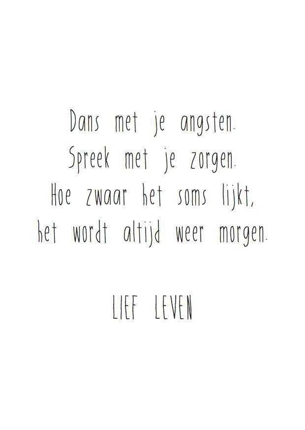 Lief Leven wenskaart Dans met je angsten (gratis verzending)