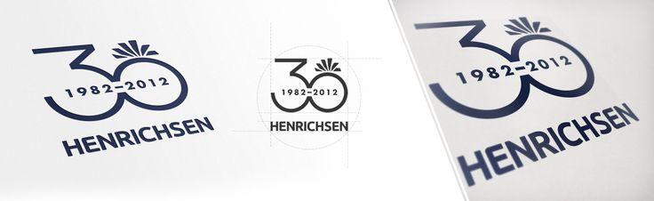 30 Jahre HENRICHSEN: Entwicklung Branding und Logo für Firmenjubiläum des IT-Unternehmens