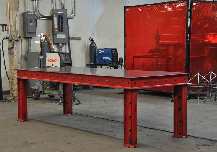Firehouse Table with a Metal Top by Vintage Industrial Furniture in Phoenix, AZ
