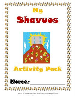 shavuot activities for toddlers