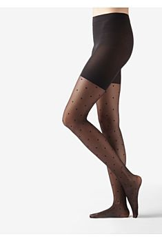 Collants Tulle Pois Ventre Plat