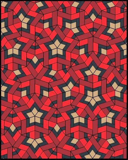 Dunawi Creek: Penrose Tile Quilt with Mylchreest Stars - Design Phase