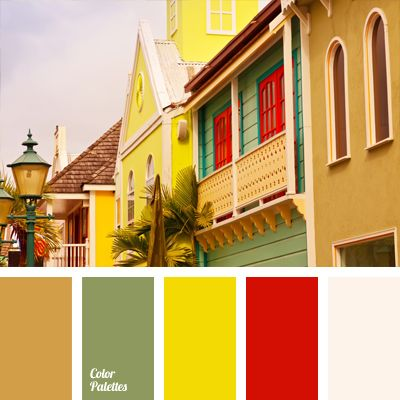 Mediterranean style harbors a mix of pale pistachio, canary yellow, sandy-brown and red hues. White perfectly completes the overall composition and matches each of the proposed colors to create interesting and spacious design solutions.