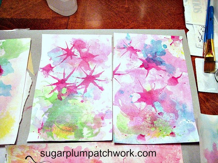 Sugarplum Patchwork: Monoprinting with Ink and Freezer Paper