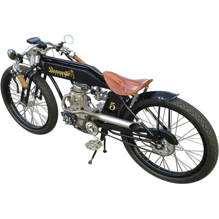 We have completed our first Electric Gentleman's Bike, variously known as the Speedster, and the Indian Canyon Flyer. The bike retains pedals in order to qualify it as a bicycle. The bike is really a