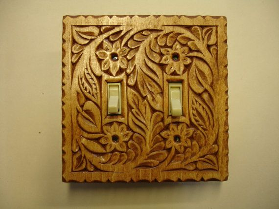 Triple switch plate in honey Oak color reserved for by HOLIWOOD