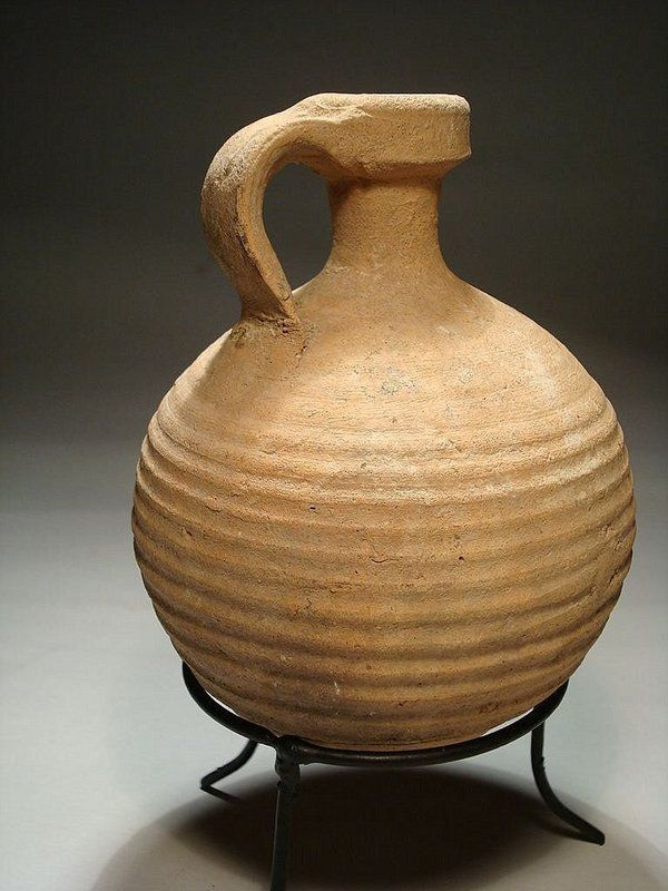 Roman Herodian Terracotta Pitcher, 63 Bc - 70 Ad For Sale | Antiques.com | Classifieds