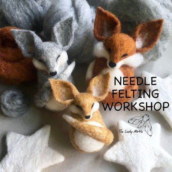 Make Your Own Fox Needle Felting Worksop With The Lady Moth Suitable For Beginners And Improvers 13 Needle Felting Needle Felted Animals Needle Felted Fox