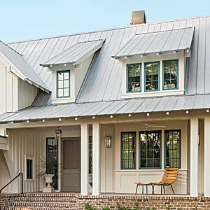 1408 The Pros and Cons of Metal Roofing -- lots of board and batten with metal roofing. :)