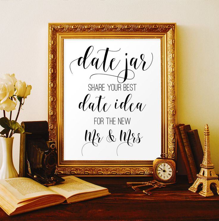 Date jar sign Date night jar sign Date night ideas Bridal shower ideas Date ideas Digital wedding decorations Wedding printable signs #vm21 by ViolaMirabilisPrints on Etsy