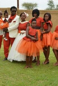 South african tradition Wedding in shweshwe