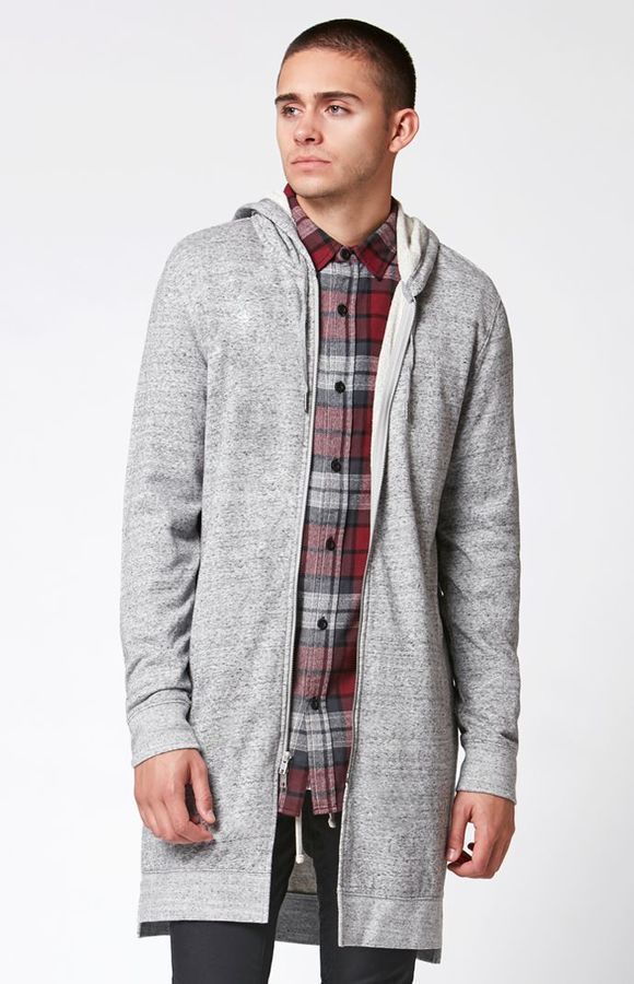 PacSun Canopy Extended Length Zip Hoodie