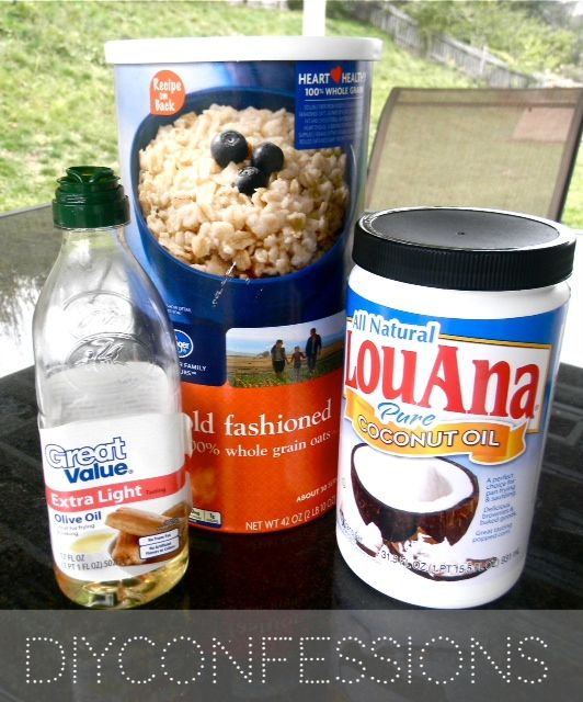 Eczema cream: 1/4 cup of oats, 3/4 cup of coconut oil, few drops of rosemary oil {optional}, 1 tbsp of olive oil   Finely ground oats in blender, melt coconut in pan, add rosemary, add oats, add EVOO. Mix several mins. Pour into small jar. Let set 24 hrs, stir 1/2 way to avoid oatmeal settling.
