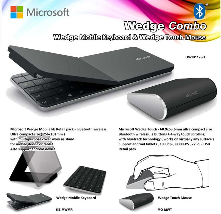 Wedge Mobile Keyboard & Wedge Touch Mouse