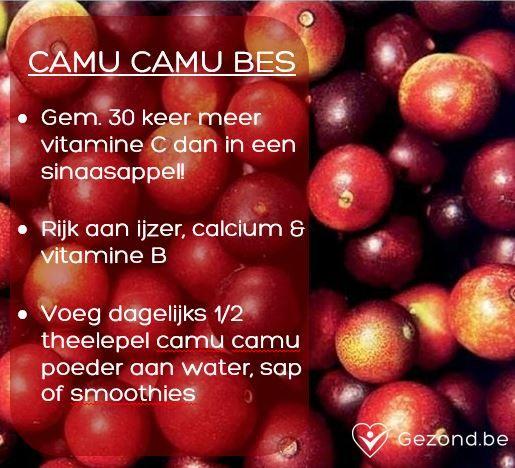 Ken jij Camu Camu poeder? Het is een bessenpoeder dat diverse vitamines en mineralen bevat. Lekker door dranken, fruitsalades en toetjes. #fact