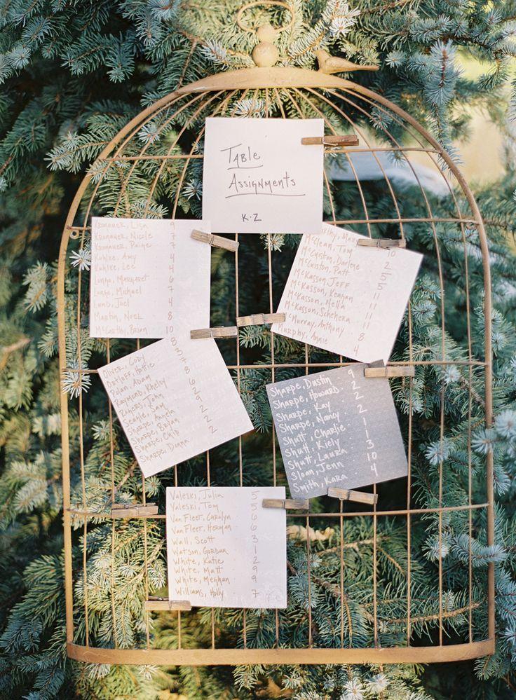 Wedding Ideas - Keep it Cute & Simple: Seating Chart | Photography: Brett Heidebrecht | More on SMP: http://www.StyleMePretty.com/2014/01/14/castle-cliff-estate-wedding-part-ii/