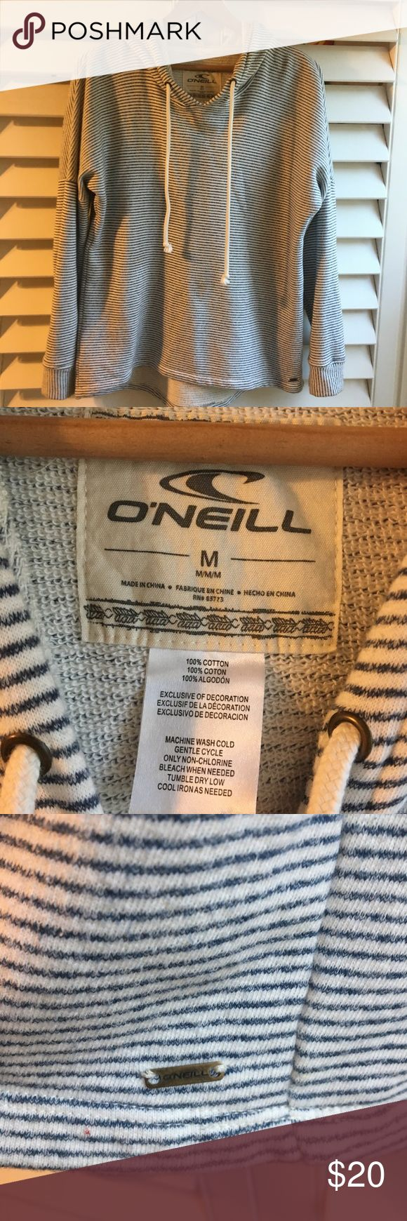 O'NEILL hooded pullover sweatshirt O'NIELL pullover hooded sweatshirt. Gently worn and from a smoke free home. 100% Cotton. Ladies size M. O'Neill Tops Sweatshirts & Hoodies