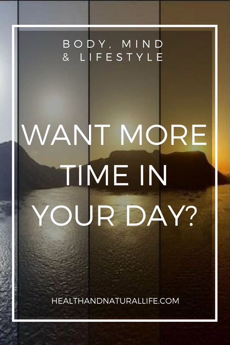How to play with the energy dynamics of TIME! Want more of it in your day? Check this out!