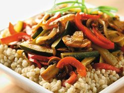 Barley with caramelized vegetables