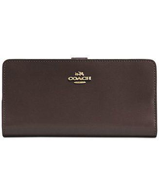 COACH Skinny Wallet in Refined Calf Leather - Wallets & Wristlets - Handbags & Accessories - Macy's