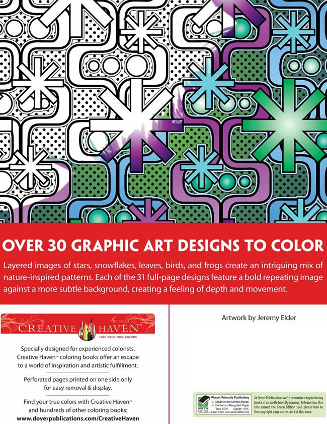 Creative Haven Graphic Art Designs Coloring Book Dover Publications