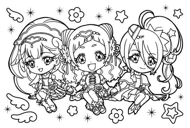 Hugtto Precure Precure Sailor Moon Coloring Pages Cute