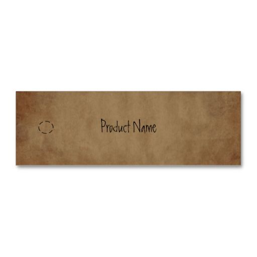 Primitive Paper Hang Tag Business Card Template Rustic Business - hang tag template