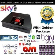 Tarboosh Tv Golden Package i-Premium Arabic Channels / French / Indian / African / Bein Sport / Uk / Italy / De / Sky Tv Channels Box