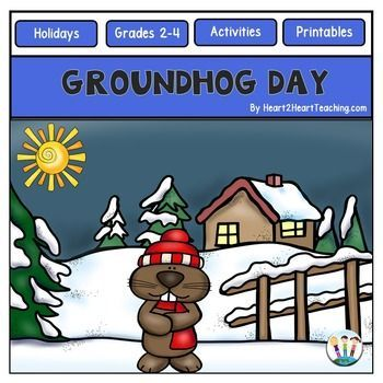 Groundhog Day : Groundhog Day Activity Pack : Your students will love these Groundhog Day Activities and Flip-Up Book!Groundhog Day is a yearly tradition held on February 2nd where a groundhog, named Punxsutawney Phil, predicts how long winter will last.