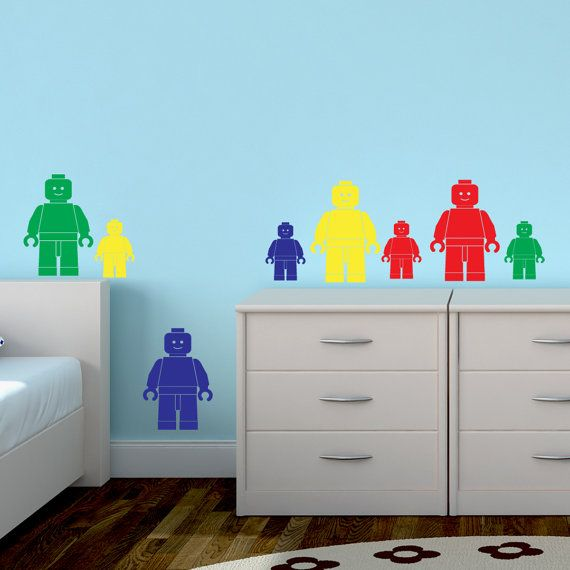 Lego Man Wall Sticker Pack x 8 Pieces Childrenu0027s Boyu0027s Girlu0027s Transfer Decal Art Vinyl Bedroom & The 86 best Kids room wall stickers images on Pinterest | Child room ...