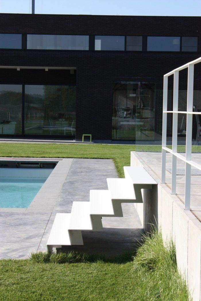 10 beste idee n over buiten trap op pinterest trappen trap ontwerp en trappenhuis ontwerp - Moderne buitentrap ...