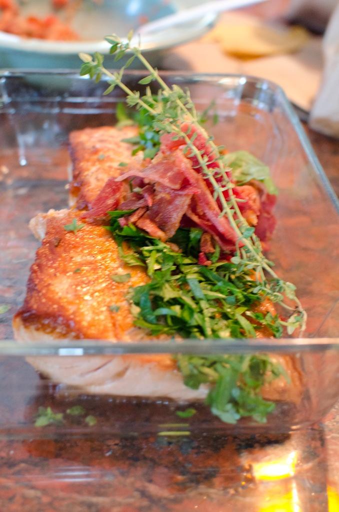 Salmon and bacon