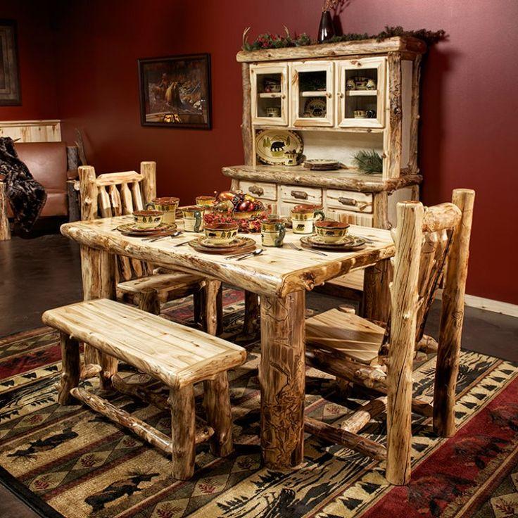 Beaver Creek Aspen Log Dining Table