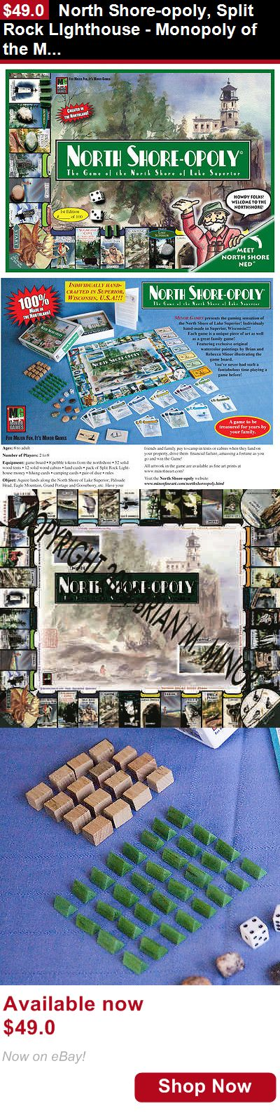 Print art: North Shore-Opoly, Split Rock Lighthouse - Monopoly Of The Minnesota Northshore BUY IT NOW ONLY: $49.0