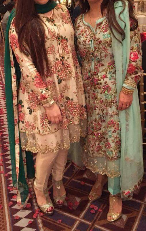 Pakistani outfits by Zara Shahjahan - my love for floral!