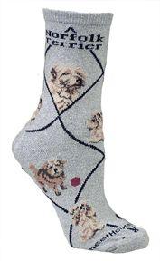 Norfolk Terrier Grey Socks