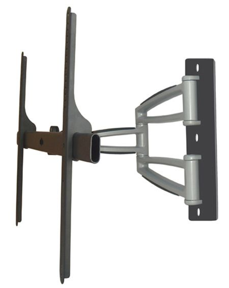 "The full motion swivel wall mount WM-4265 supports 42"" to 65"" flatscreen TV's. Max TV weight 150 lbs. Vesa max 800 x 500mm. Tilt range is -10 to +20 degrees. Generic wall mounts are not manufactured by us and are provided for your convenience. We tested for strength and compatibility with our accessories."