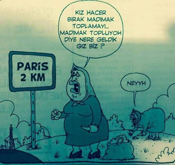 - Kız Hacer bırak madımak toplamayı... Madımak topluyoh diye nere geldik gız biz? + Neyyh #karikatür #mizah #matrak #komik #espri