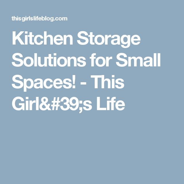 Kitchen Organization Ideas Small Spaces: 1000+ Ideas About Kitchen Storage Solutions On Pinterest
