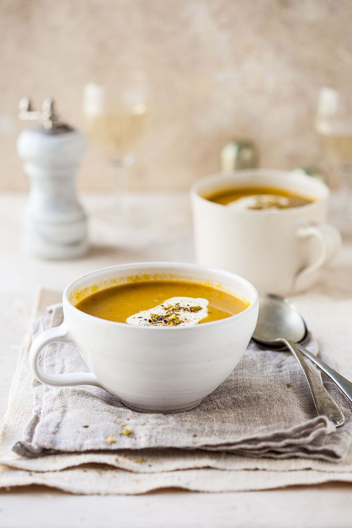 Carrot and coriander soup with cumin and orange | DrizzleandDip.com | photography - Sam Linsell