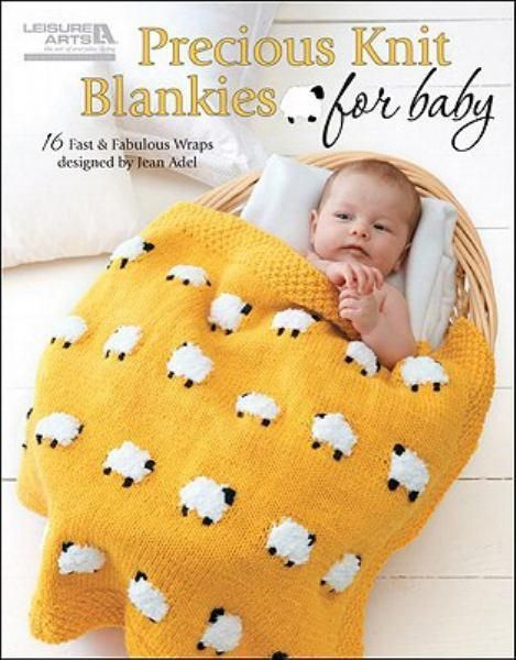 Buy Precious Knit Blankies for Baby at Angus & Robertson Bookworld with Delivery - The 16 fast and fabulous designs from internationally renowned designer Jean Adel are made using medium, bulky and super bulky yarns in a variety of fresh and colourful patterns. Projects include; a gingham check blanket, pom-pom carriage throw, ribbed blanket, double-strand basket-weave blankie, tri-colour garter ridge throw, colour block blanket, slip stitch blanket, fuzzy blanket with tassels, zig-zag ca...
