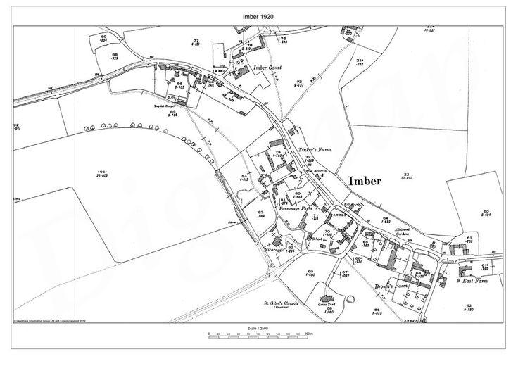 Imber Village Map 1920