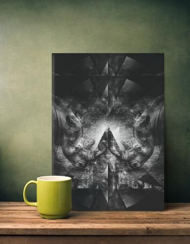 RHINO RESISTANCE METAL POSTER By Ulf Härstedt