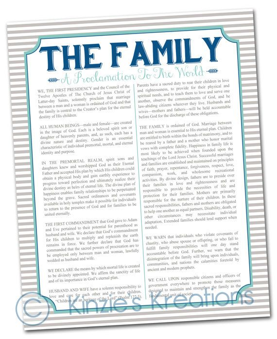 The Family A Proclamation to the World digital by KinziesKreations, $5.00