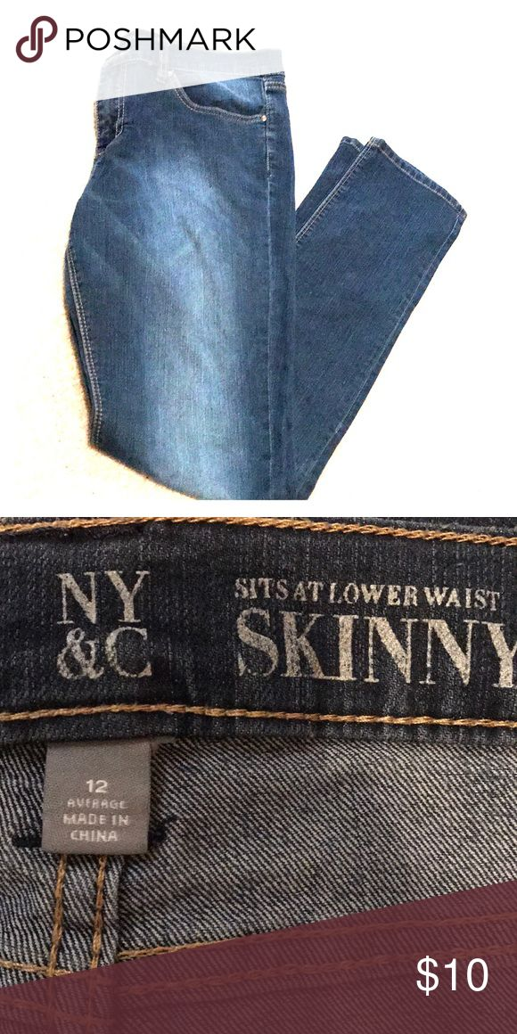 New York and Company skinny jeans New York and Company skinny jeans, size 12. Good condition, only worn a couple of times. Smoke free, pet free home. New York & Company Jeans Skinny