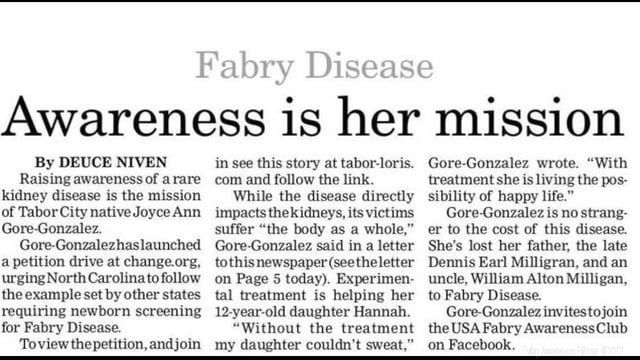 Breaking New Headline: Fabry Disease & 3 Sugars in the leading cause of the Rare Disease?Build-up of 3 Sugars? What 3 Sugars?   Please Share. Help raise Fabry Awareness. Climate does effect the cause of Fabry Disease. Fabry Disease is a Point Mutation. A point mutation is a mutation that is comes from an Environment some source of form, for examples: being exposure to Radiation, Heat, Chemicals, UV-Lights can cause a Point Mutation. There are more Point Mutation Diseases like Sickle Cell…