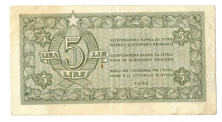 5 LIRE - #scripomarket #scripobanknotes #scripofilia #scripophily #finanza #finance #collezionismo #collectibles #arte #art #scripoart #scripoarte #borsa #stock #azioni #bonds #obbligazioni
