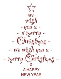free christmas tree digital stamp set