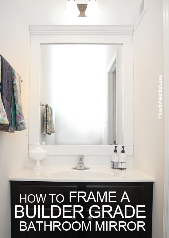 How to frame a bathroom mirror diy your home for Bathroom builders