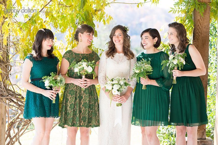 17 best images about bridesmaids on pinterest mismatched for Short green wedding dresses